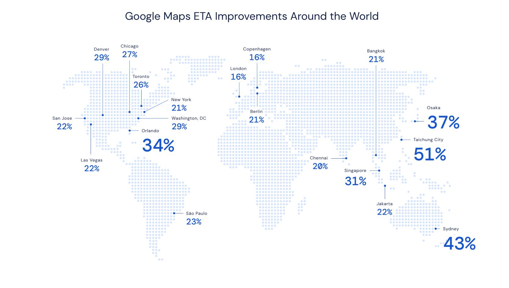 Mapy Google – usprawnienia w ETA