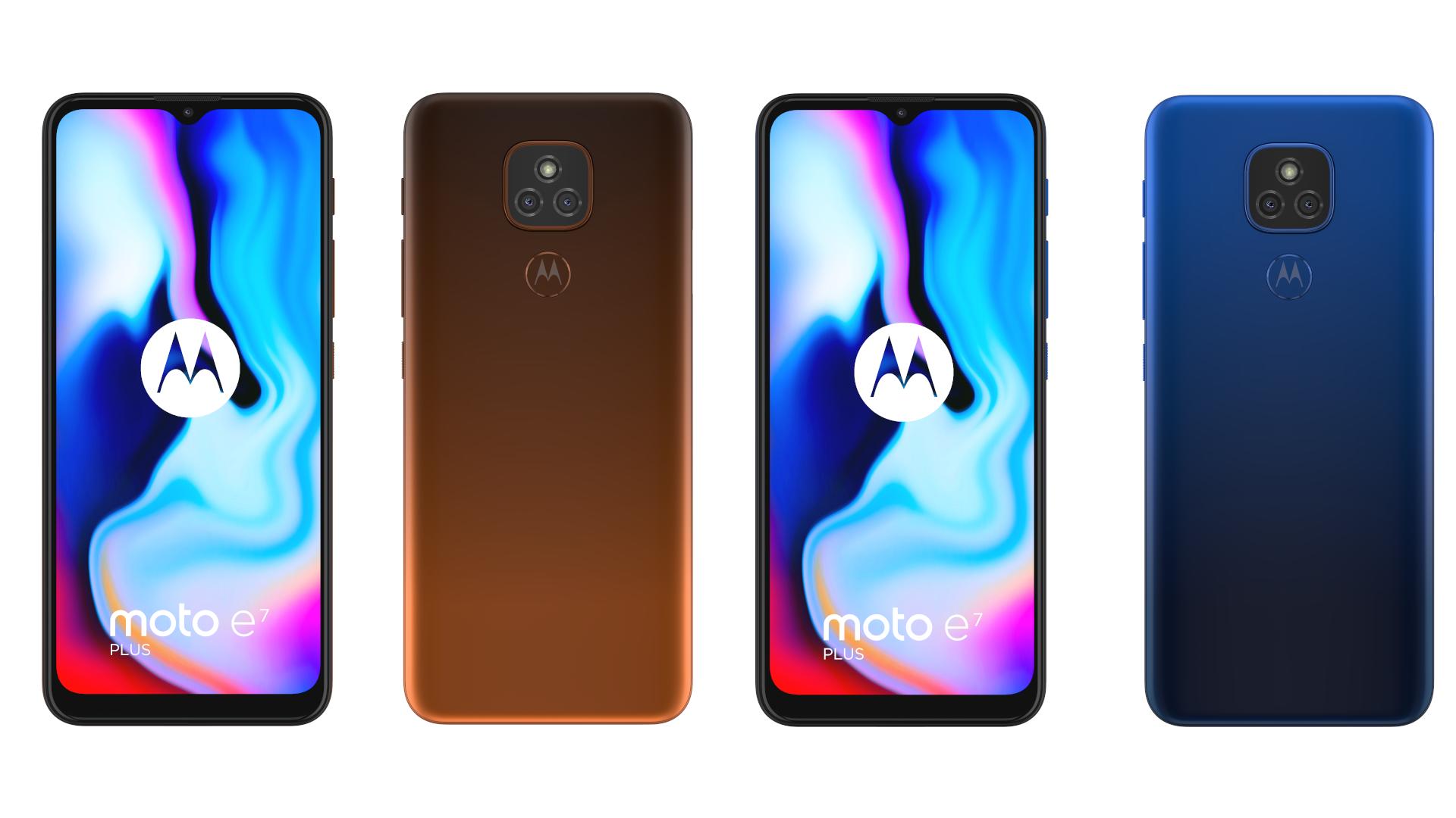 Motorola Moto E7 Plus w obu wariantach kolorystycznych