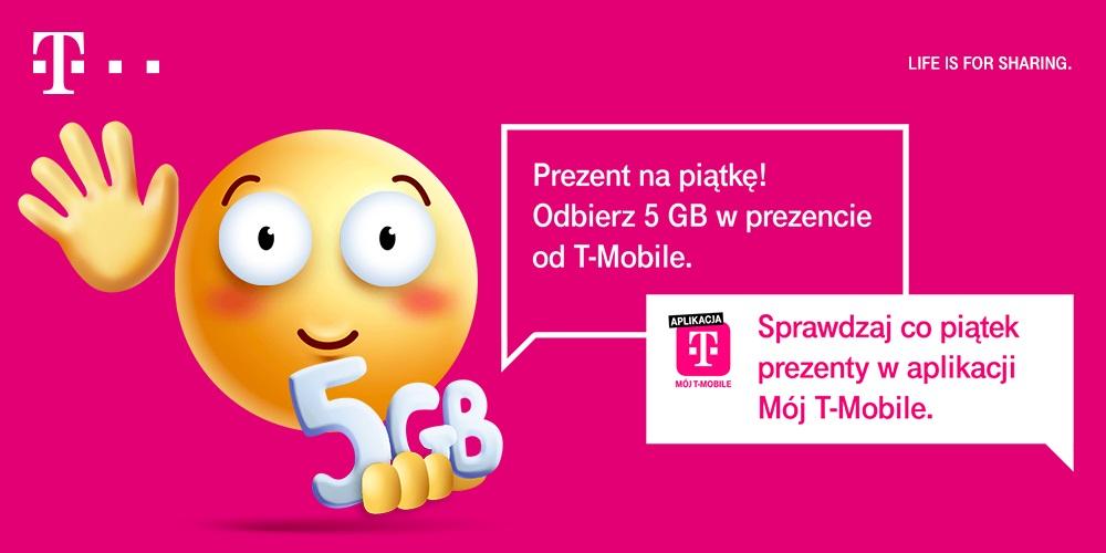pakiet 5 GB za darmo T-Mobile w ramach akcji Happy Fridays