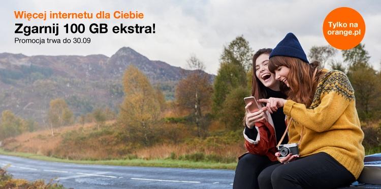 Promocja Orange 100 GB więcej w Planach Mobilnych