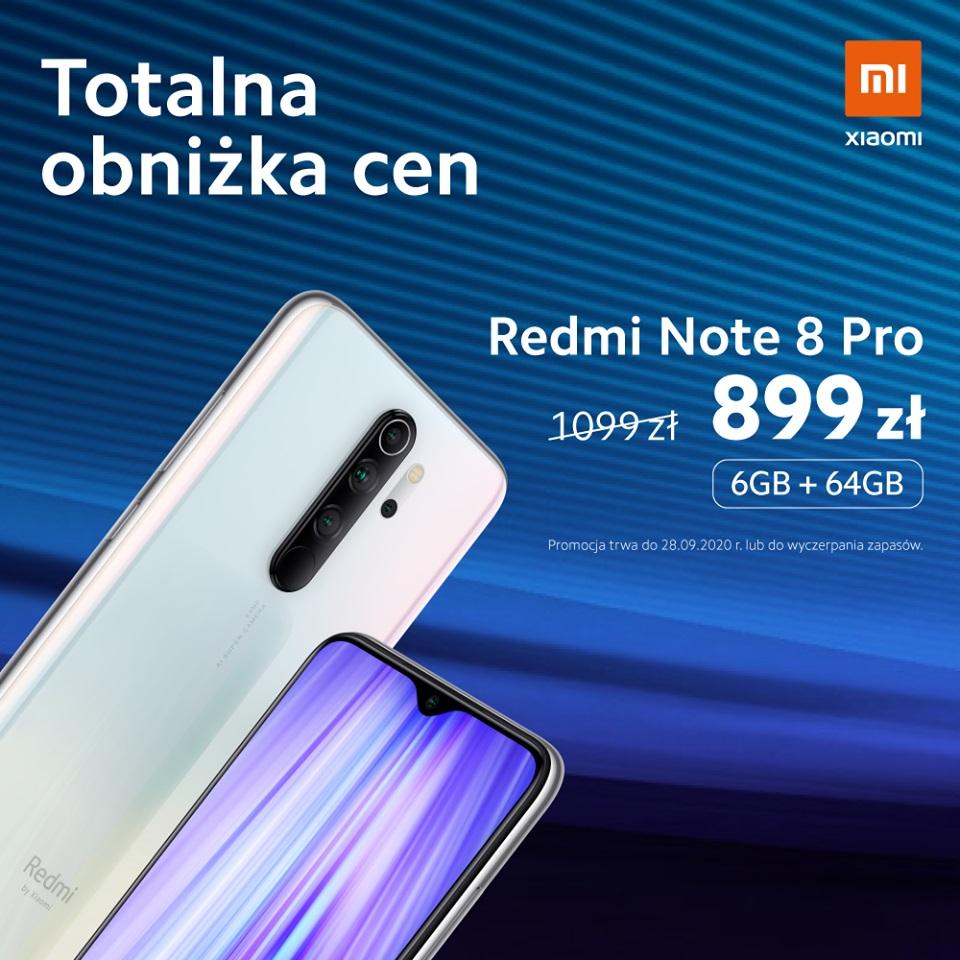 promocja Xiaomi Redmi Note 8 Pro 6 GB/64 GB za 899 złotych