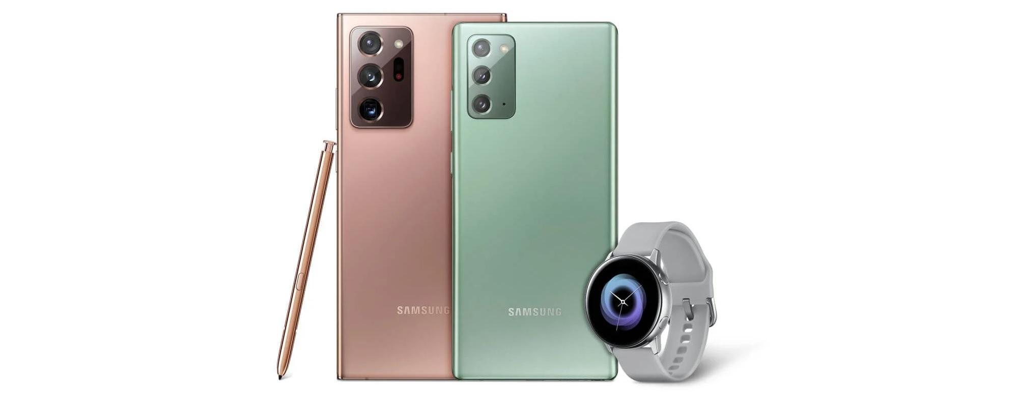 promocja Samsung Galaxy Note 20 Ultra Galaxy Watch Active w prezencie gratis za darmo