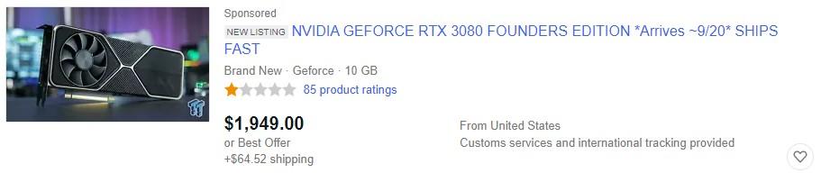 Przedsprzedaż RTX 3080: Black Friday to przy tym nic szczególnego