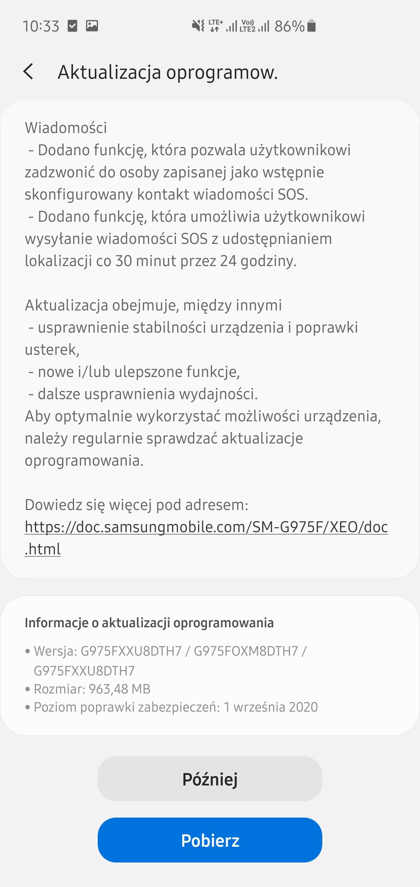 Aktualizacja do One UI 2.5 na Galaxy S10+