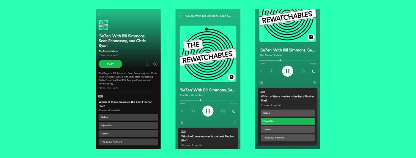Po tym jak Spotify stworzyło podcasty w interaktywnej formie, przyszedł czas na dalszy ich rozwój