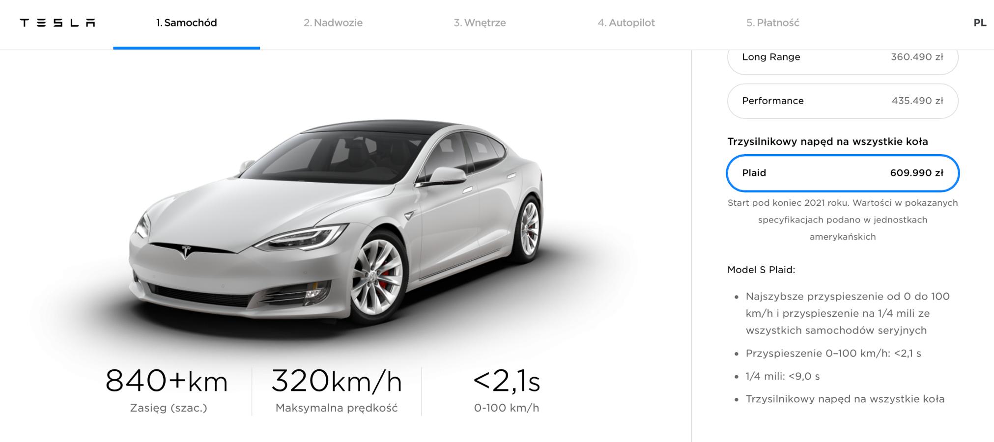 Tesla Model S Plaid.