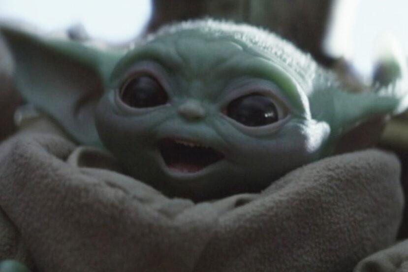 Baby Yoda w Star Wars Squadrons