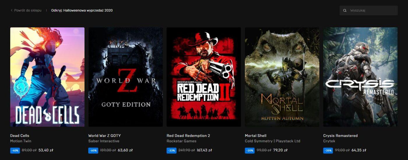 Halloween Epic Games Store Wyprzedaż