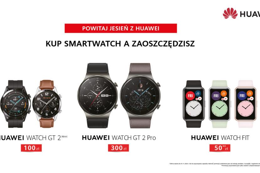 Czas na smartwatche. Sprawdź promocję na trzy zegarki Huawei Watch