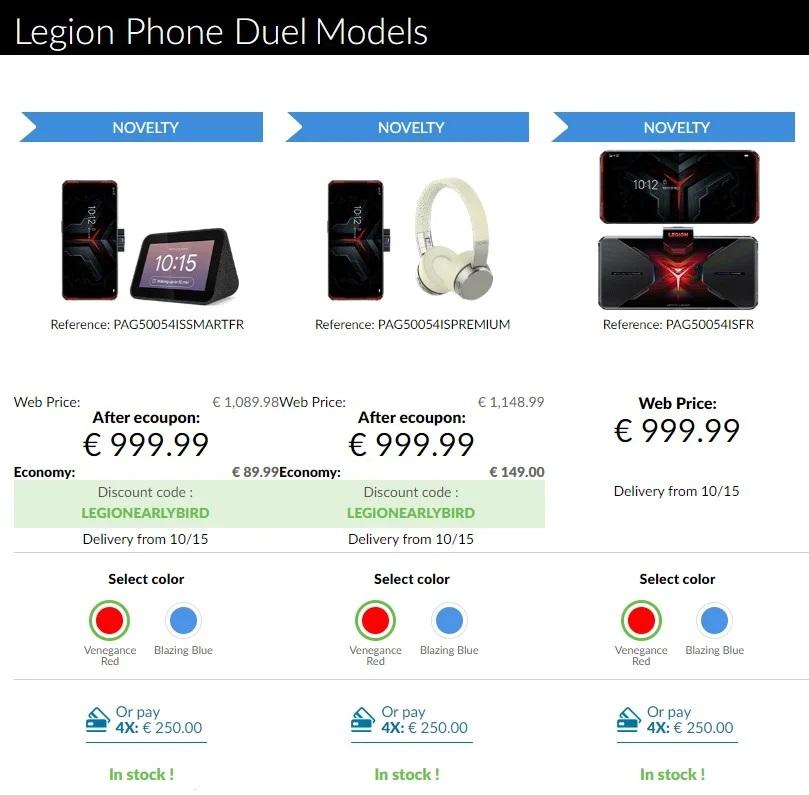 Europejskie ceny Lenovo Legion Duel