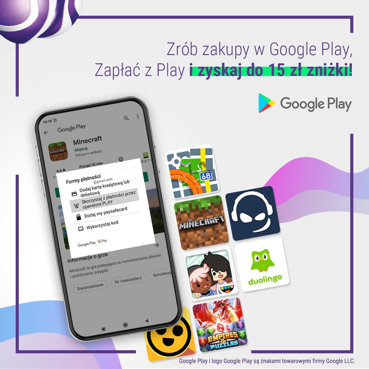 promocja Zapłać z Play Google Play