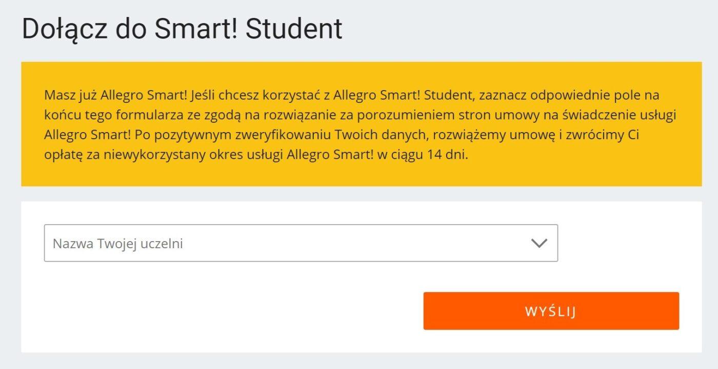 Darmowe Allegro Smart Dla Studentow Na Pol Roku