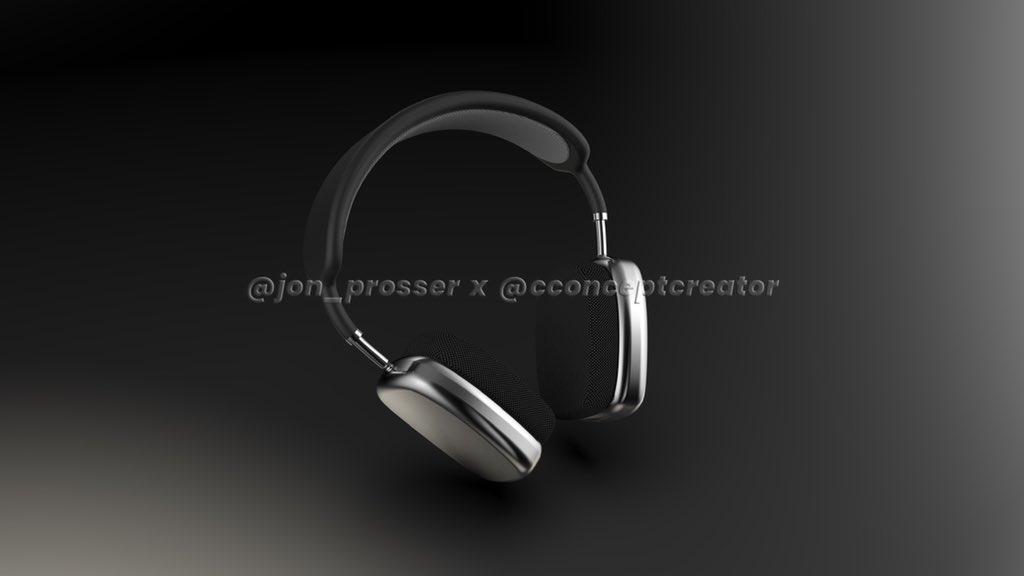 Koncept słuchawek Apple AirPods Studio (fot. Jon Prosser x cconceptcreator)