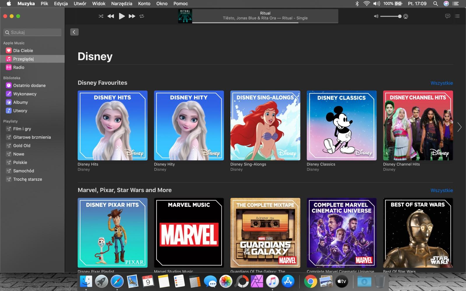 Apple Music – sekcja Disney.