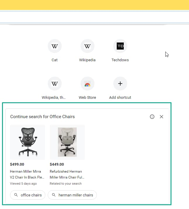 Google Chrome z reklamami.