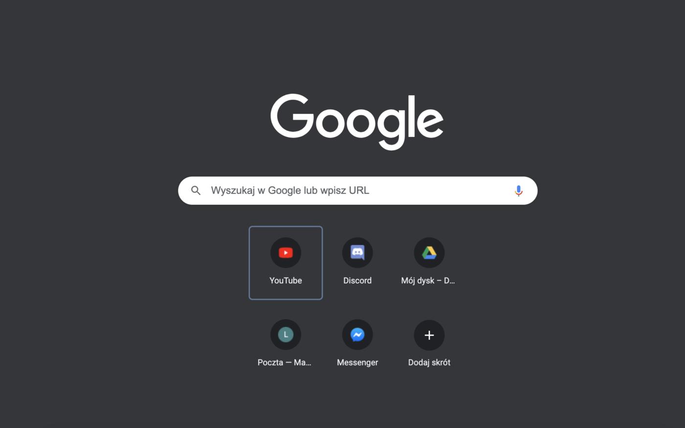 Czego brakuje na stronie nowej karty w Google Chrome? Podobno reklam