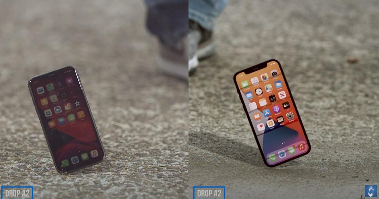iPhone 12 drop test