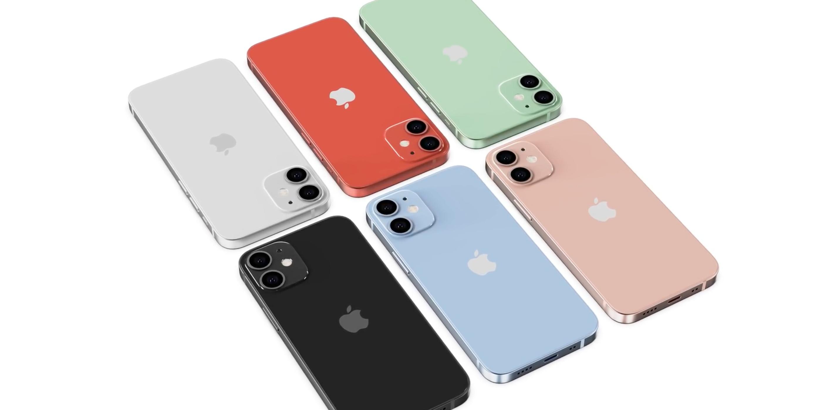 iPhone 12 Mini i 12 – dostępne wersje kolorystyczne.