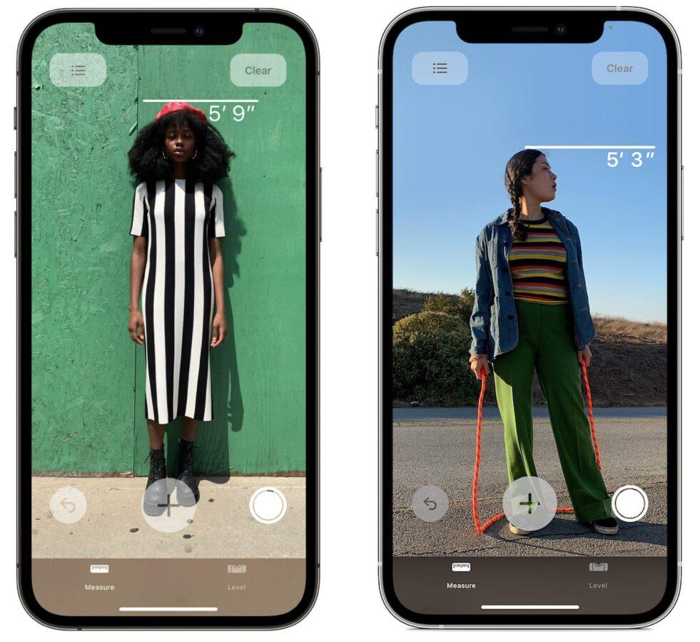 iPhone 12 Pro – aplikacja Miarka.