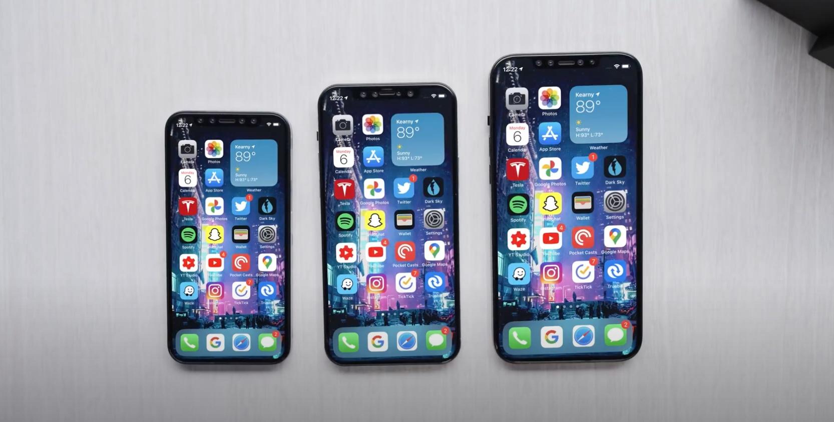 iPhone 12 – porównanie rozmiarów.