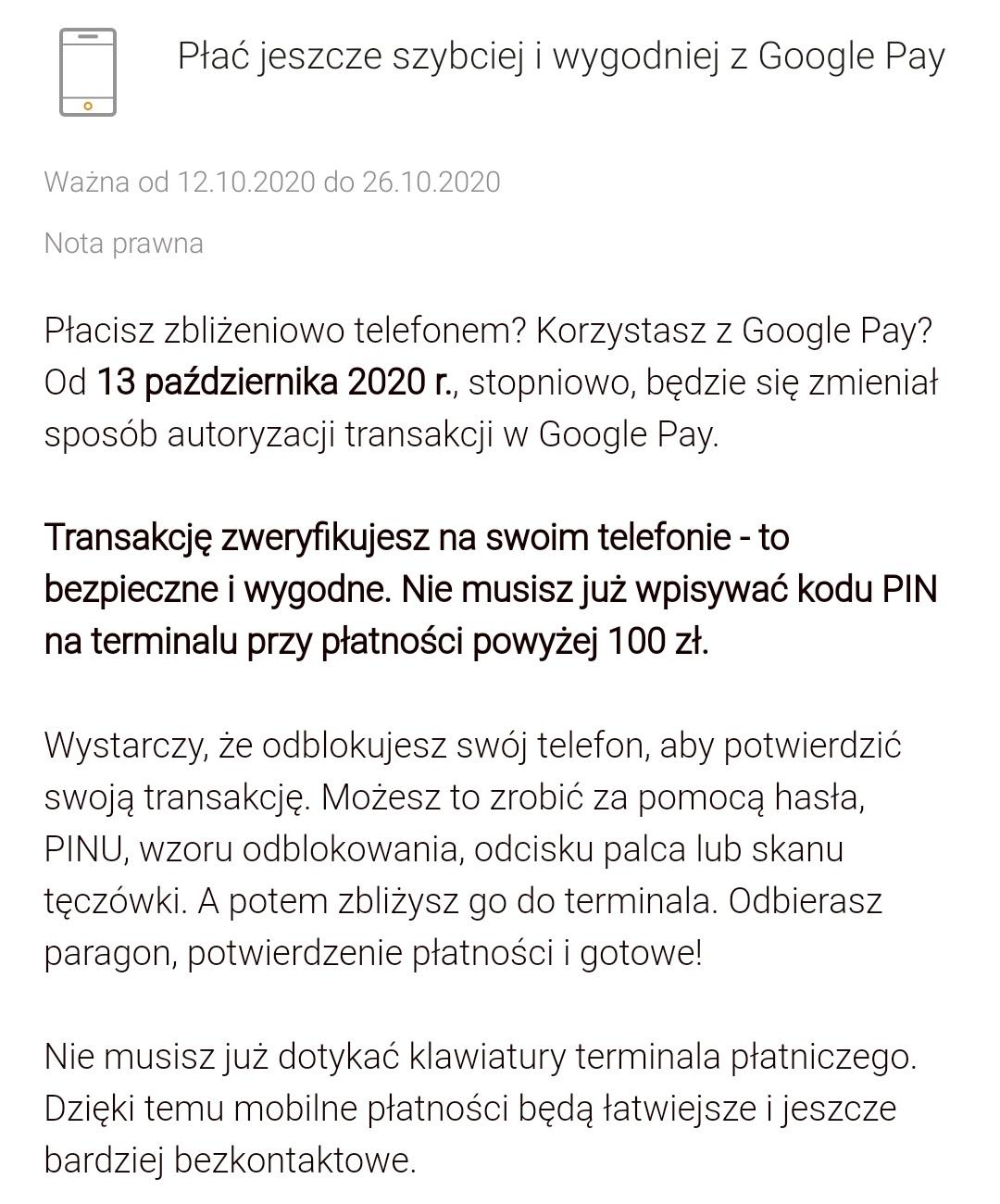 mBank Google Pay