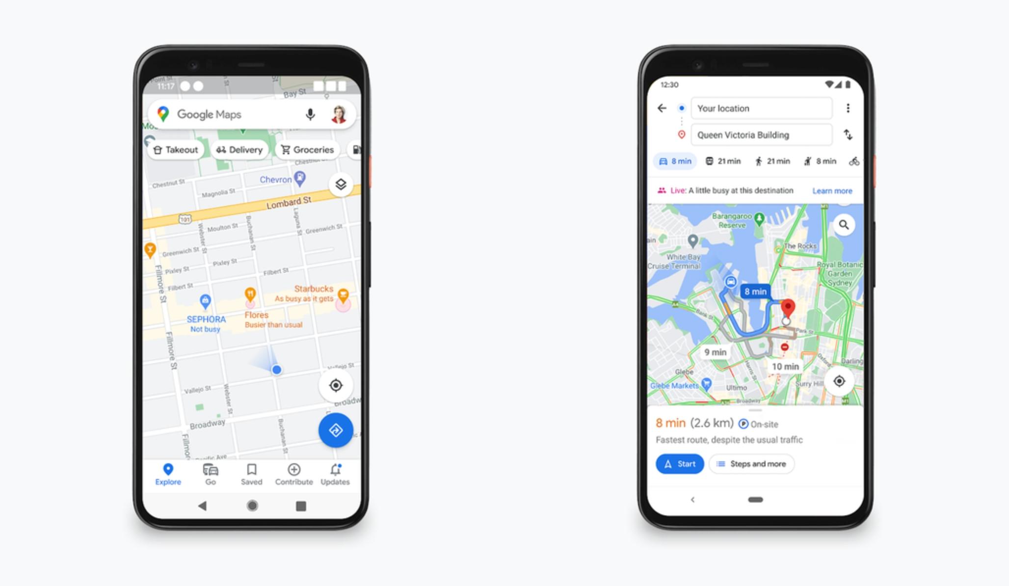 Mapy Google - popularne godziny