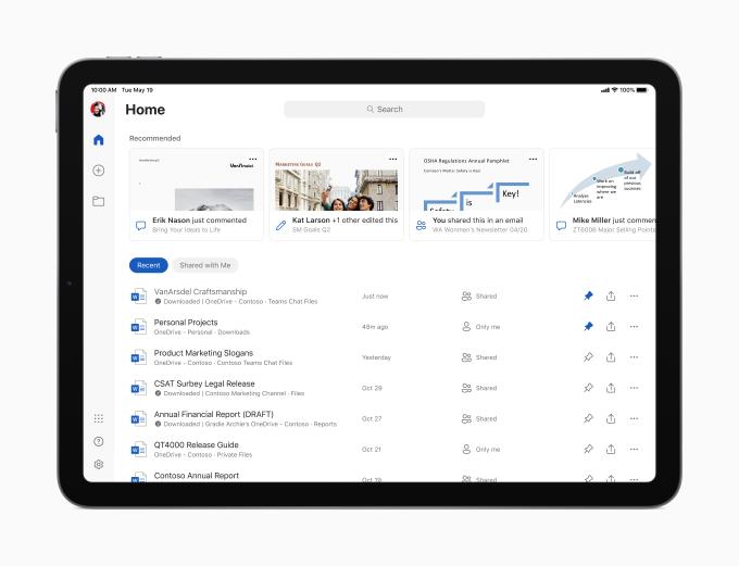 Microsoft Office na iPad - zmiany