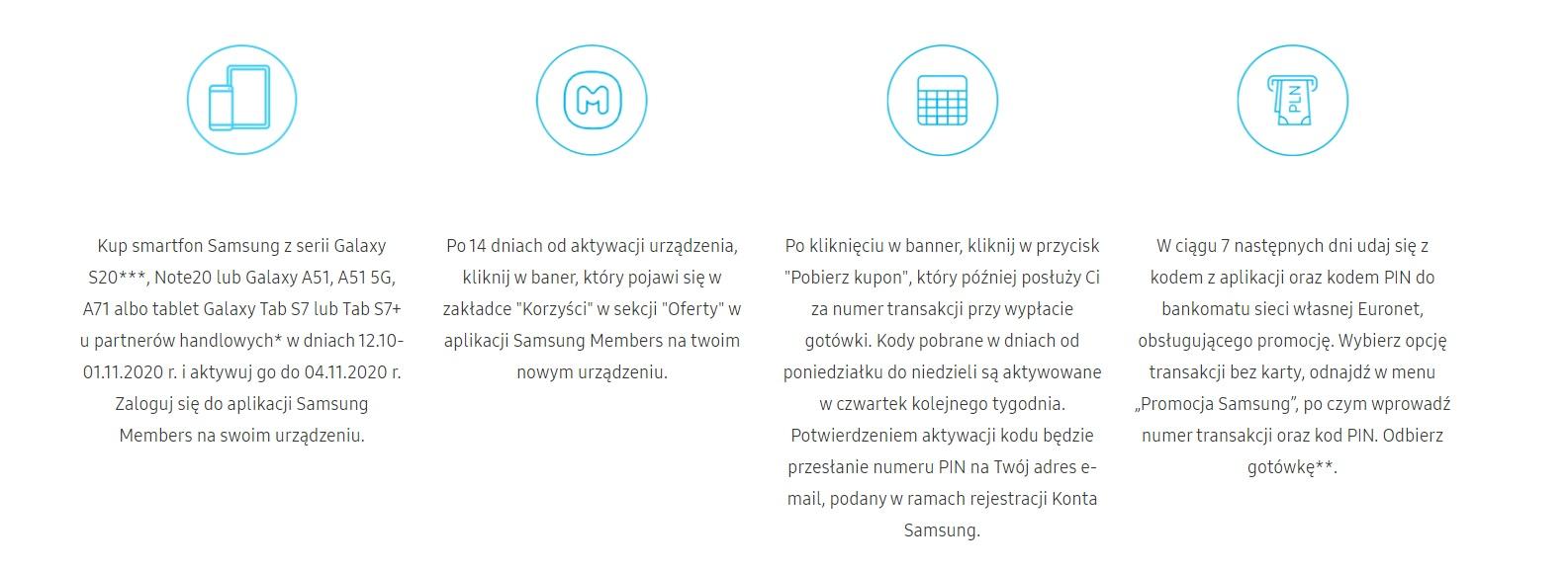 promocja Samsung premia zasady