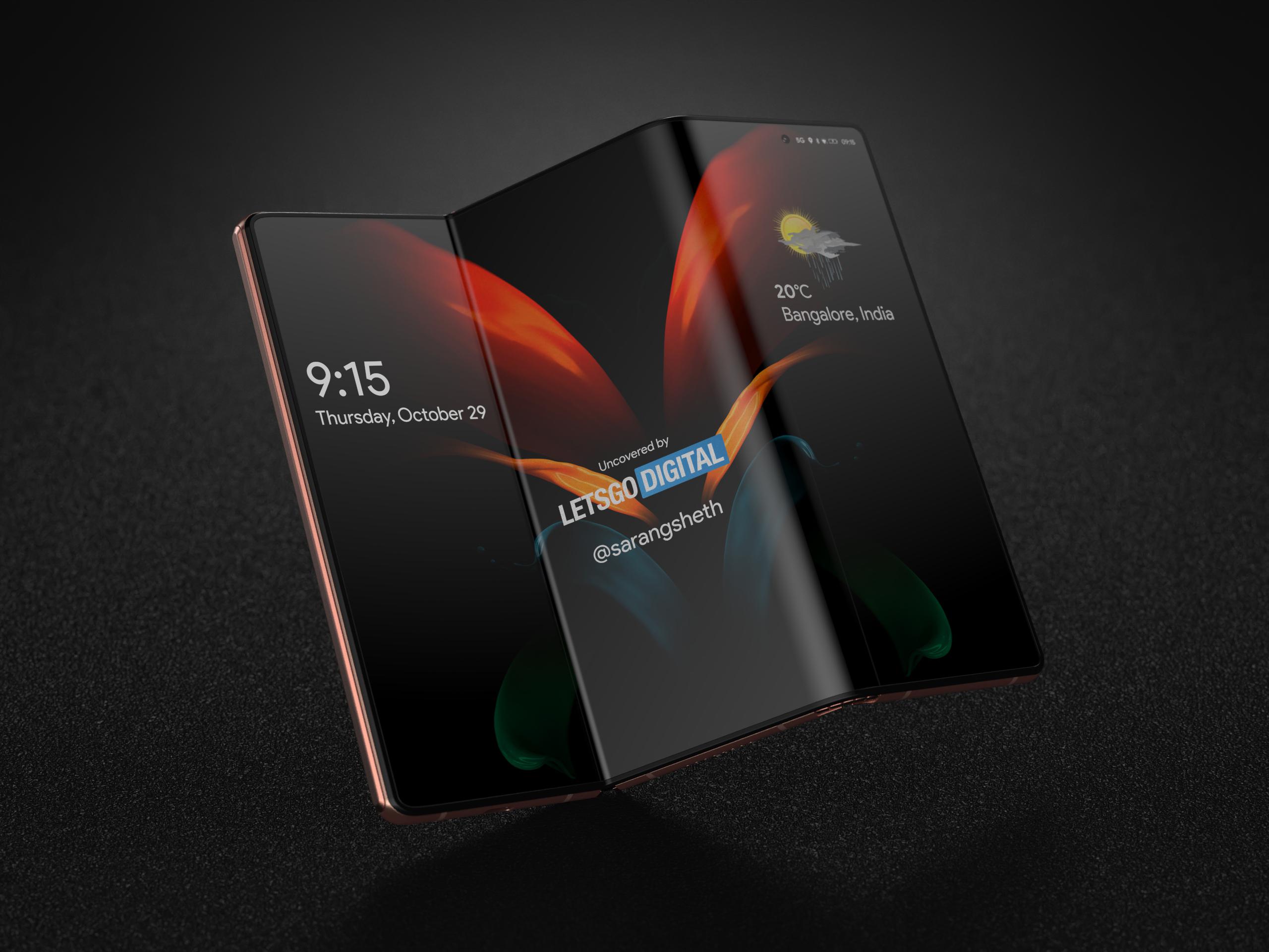 Samsung Galaxy Z Fold 3 wizualizacja