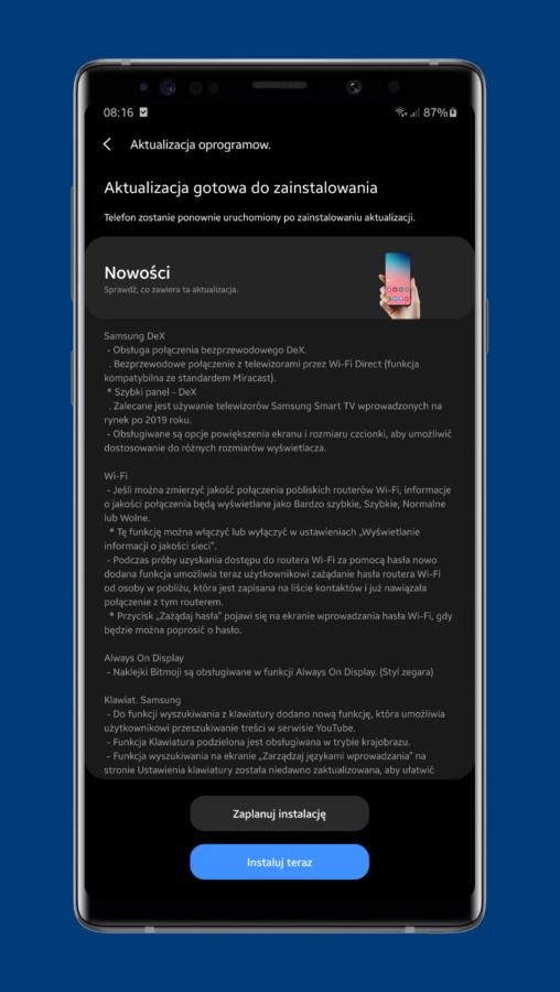 Świetna wiadomość dla posiadaczy Galaxy S9+ i Galaxy Note 9 - aktualizacja One UI 2.5 jest już dostępna!