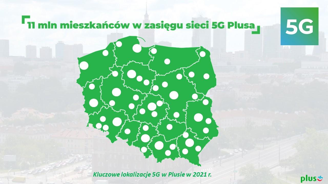 5G w Plusie zasięg miasta