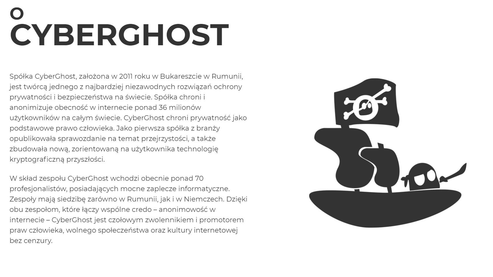 O firmie CyberGhost