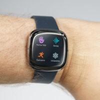 Fitbit Sense menu