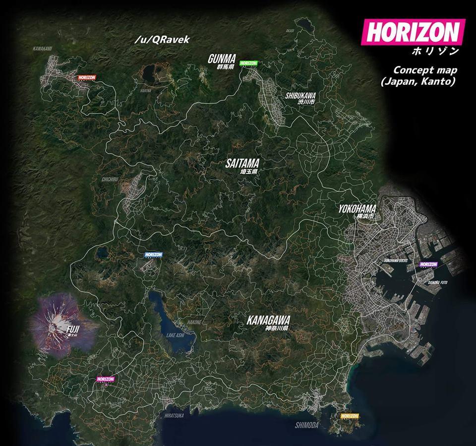 Forza Horizon 5 - mapa