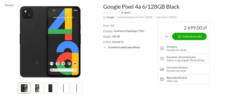 smartfon Google Pixel 4a smartphone x-kom