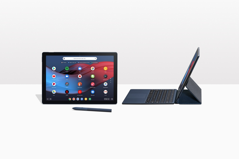 Chromebook z odłączaną klawiaturą.