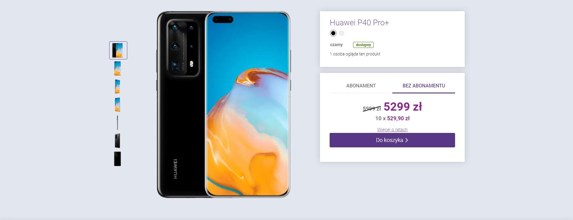 promocja Huawei P40 Pro Plus Play
