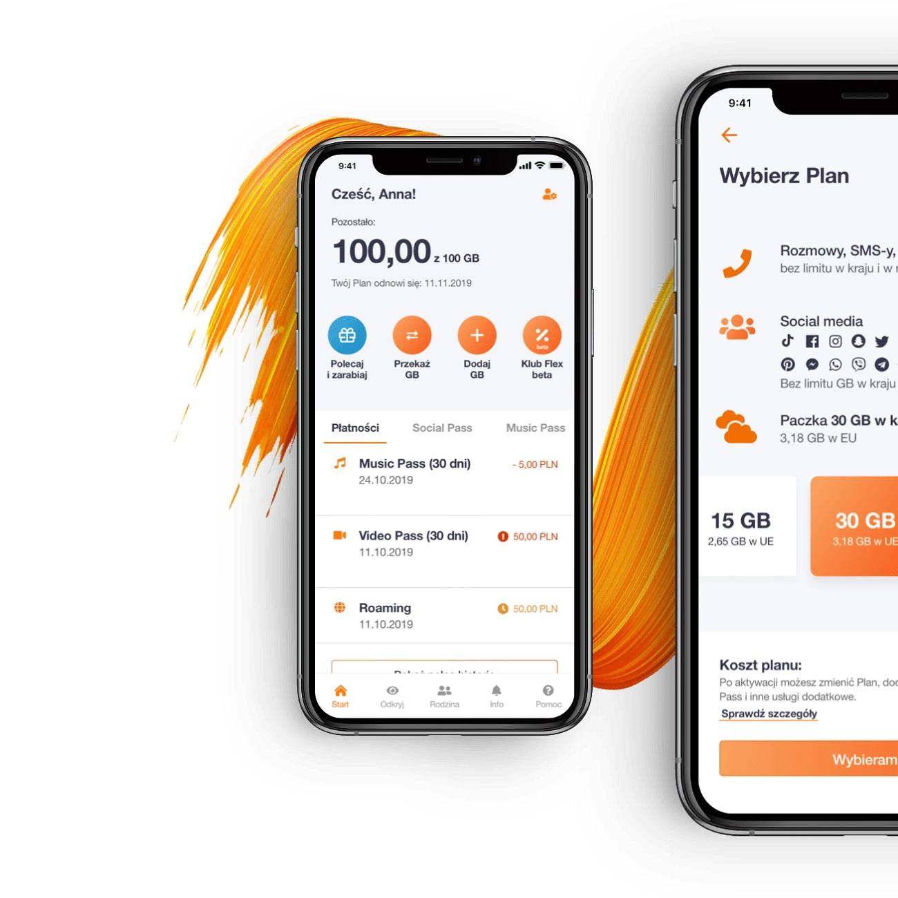 Orange Flex aplikacja