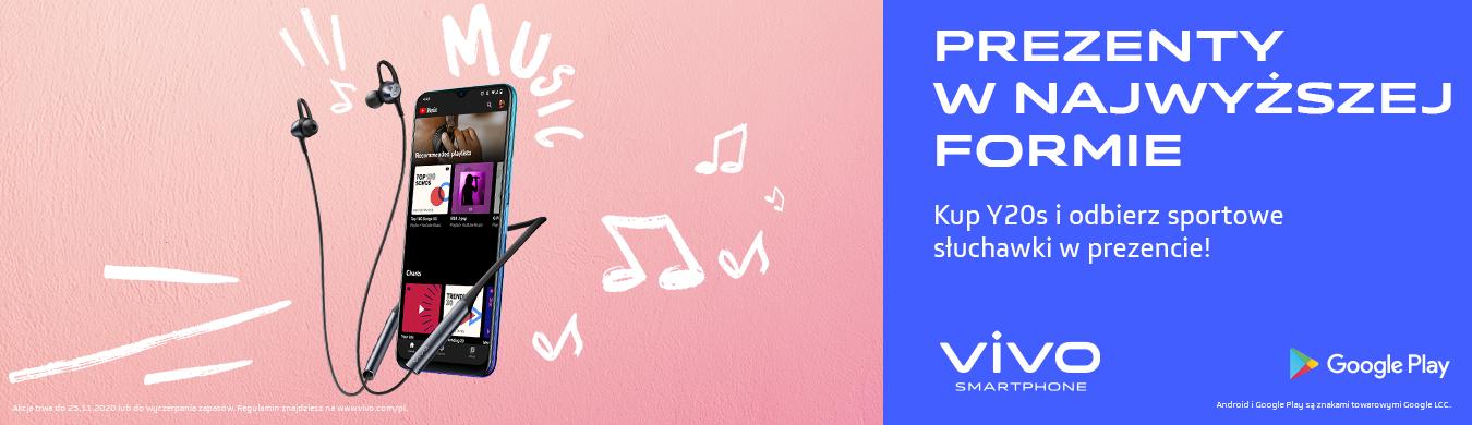 Kup smartfon Vivo Y20s za 800 złotych, a słuchawki za 300 złotych dostaniesz gratis