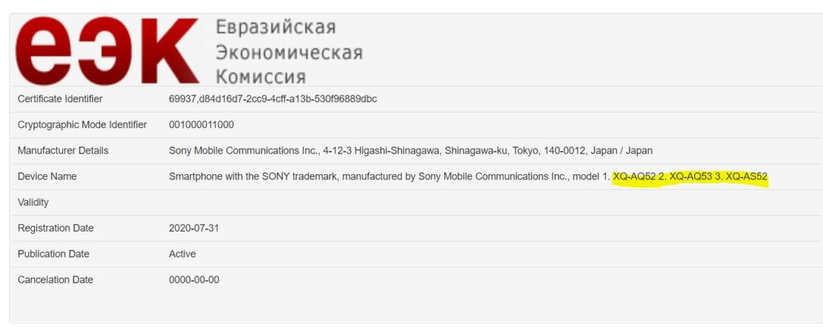 smartfon Sony Xperia 10 II Plus smartphone EEC