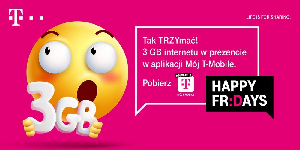 T-Mobile pakiet 3 GB internet za darmo Happy Fridays