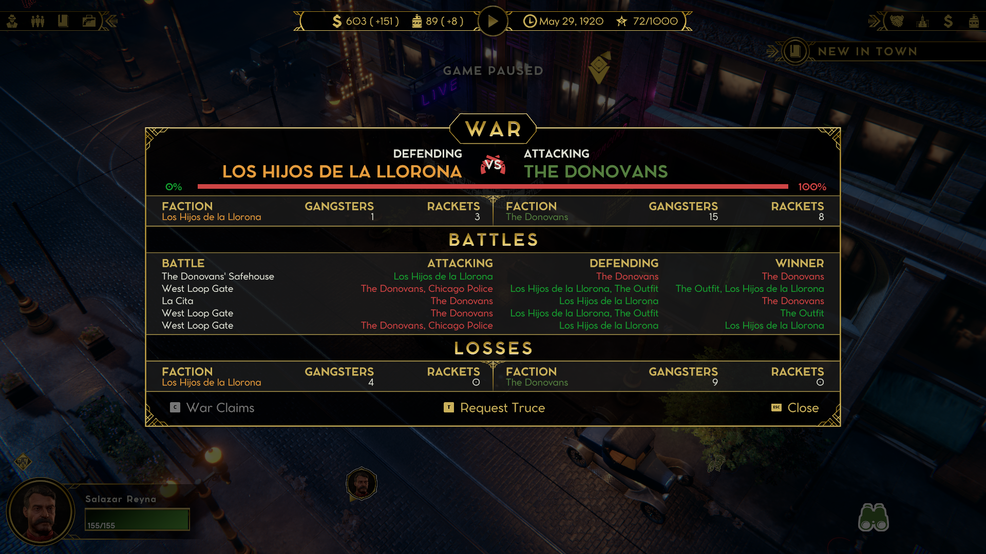 Empire of Sin - wojna