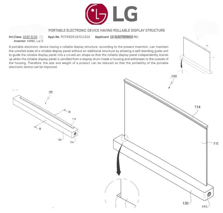 LG zwijany ekran