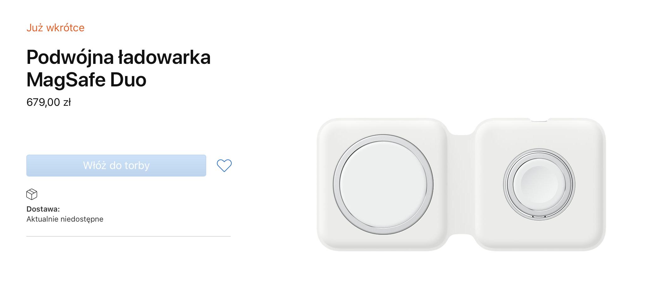 Ładowarka Apple MagSafe Duo