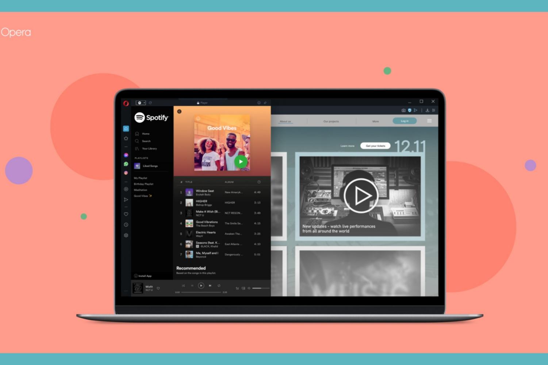 Opera z kolejną unikatową funkcją. Twórcy dodali Spotify i Apple Music