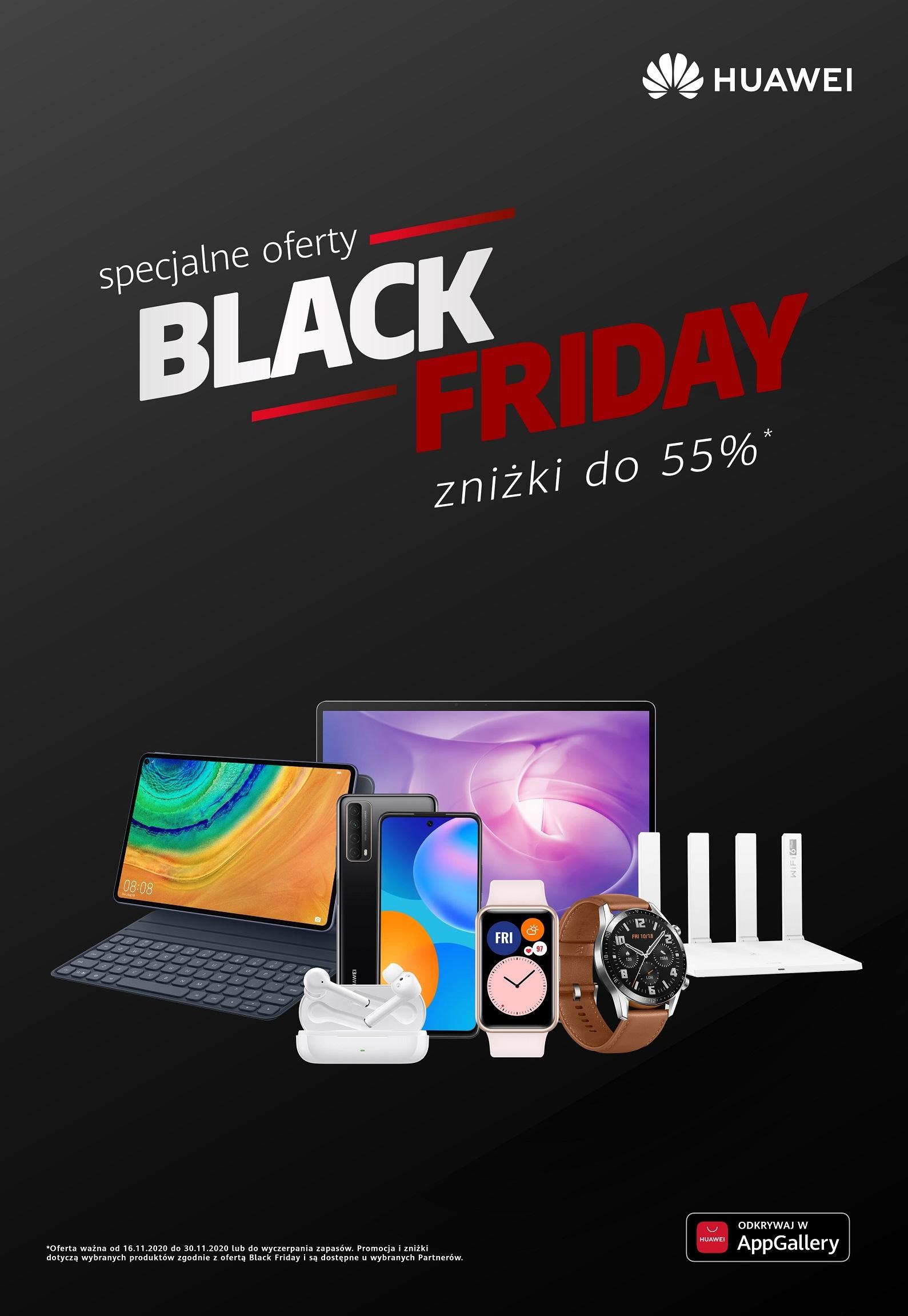 promocja Huawei Black Friday 2020