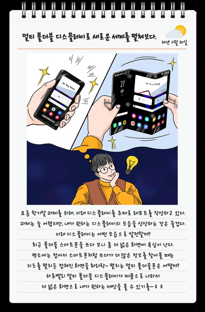 Grafika koncepcyjna podwójnie składanego smartfona Samsunga
