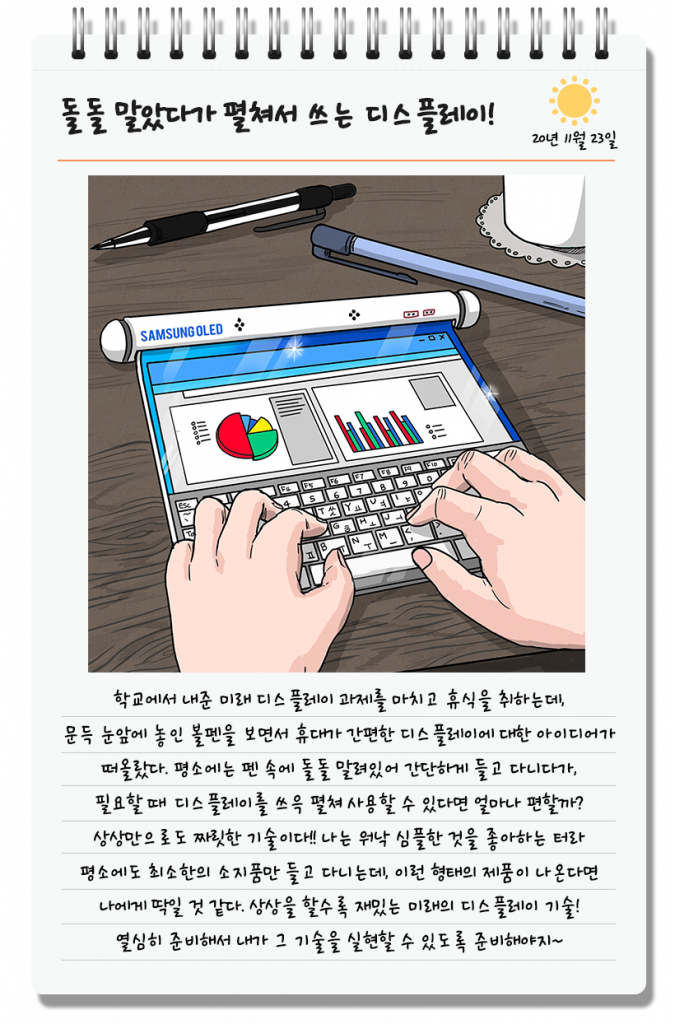 rozwijany smartfon Samsung Display rollable smartphone
