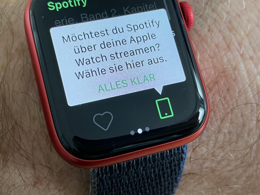 Spotify na Apple Watchu