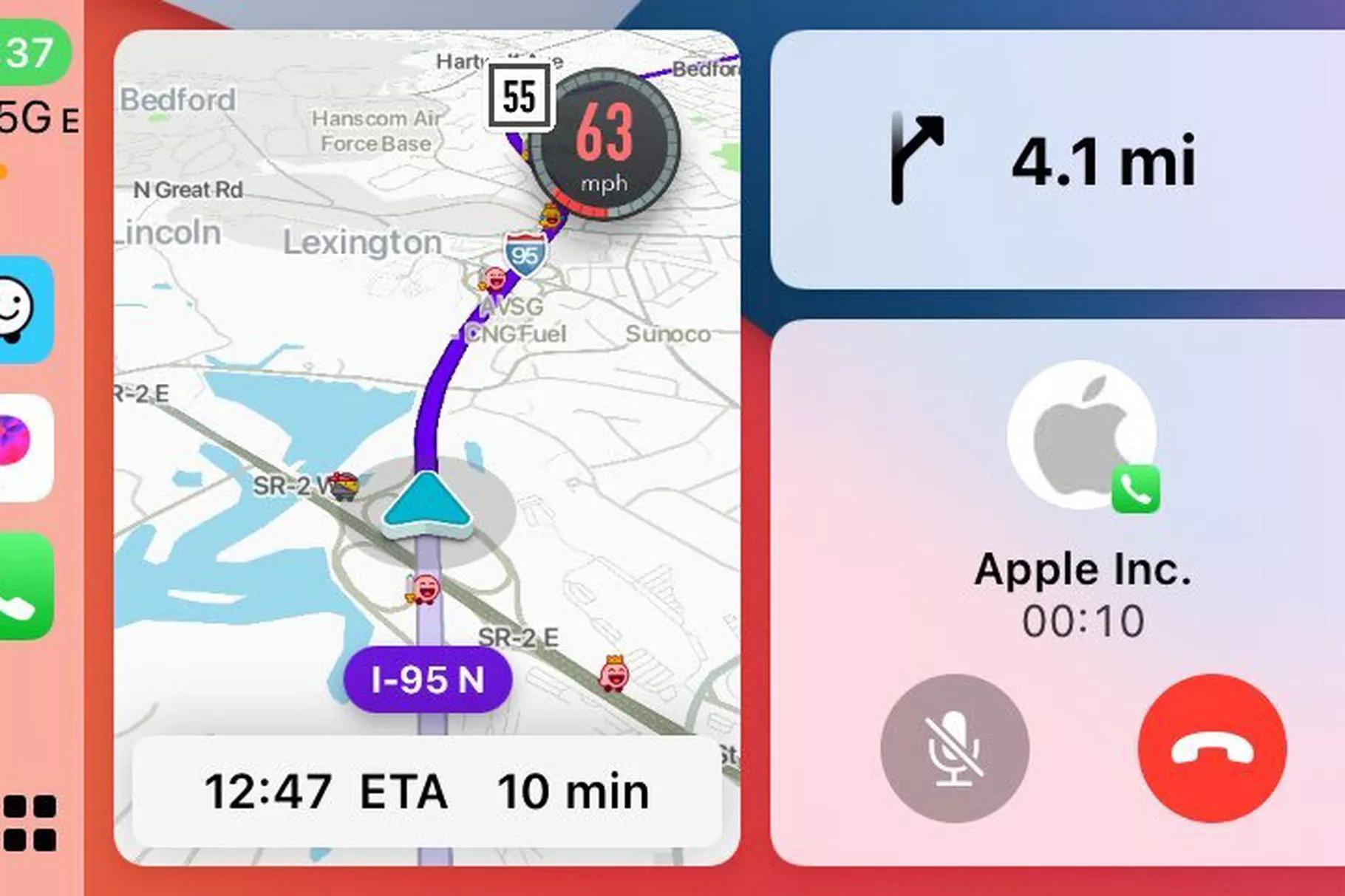 Waze w Apple CarPlay